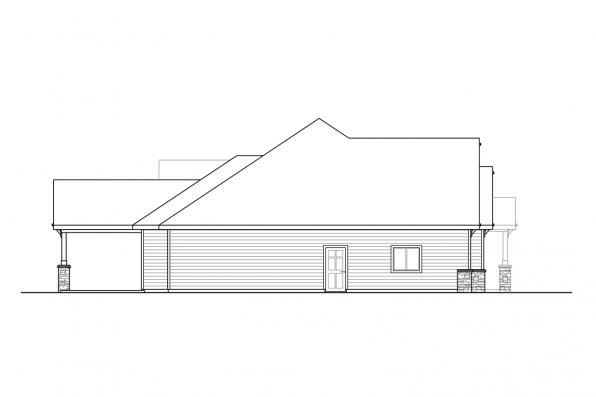 Ranch Home Design - Laceflower 31-118 - Right Elevation