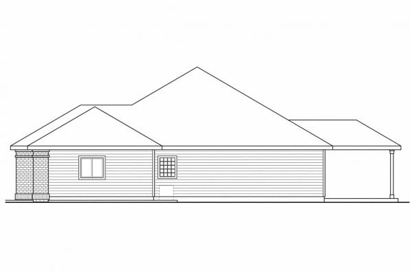 Ranch House Plan - Ambrose 30-736 - Right Elevation