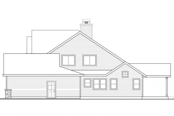 Ranch House Plan - Anchorage 30-930 - Right Elevation