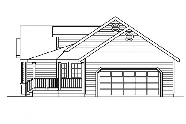 Ranch House Plan - Briarton 30-339 - Right Elevation