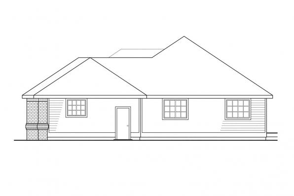Ranch House Plan - Camden 30-051 - Right Elevation