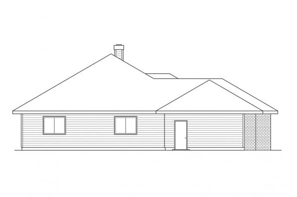 Ranch House Plan - Clarkston 30-080 - Left Elevation