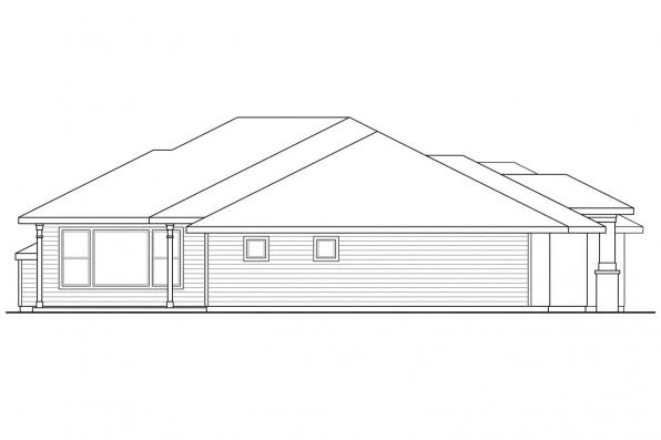 Ranch House Plan - Crownpoint 30-770 - Left Elevation