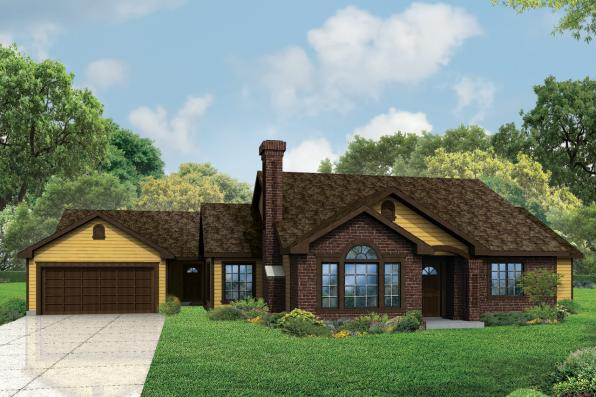 Ranch House Plan - Darrington 30-941 - Front Elevation