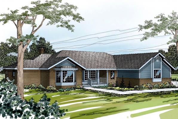 Ranch House Plan - Grayling 10-207 - Front Elevation