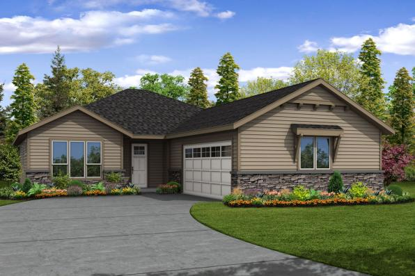 Ranch House Plan - Holyoke 31-093 - Front Elevation