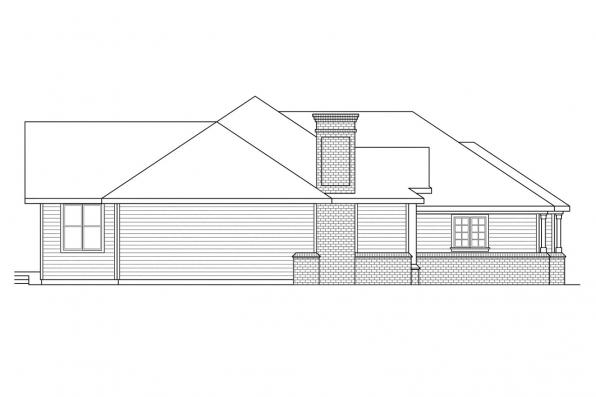 Ranch House Plan - Jessica 30-049 - Left Elevation