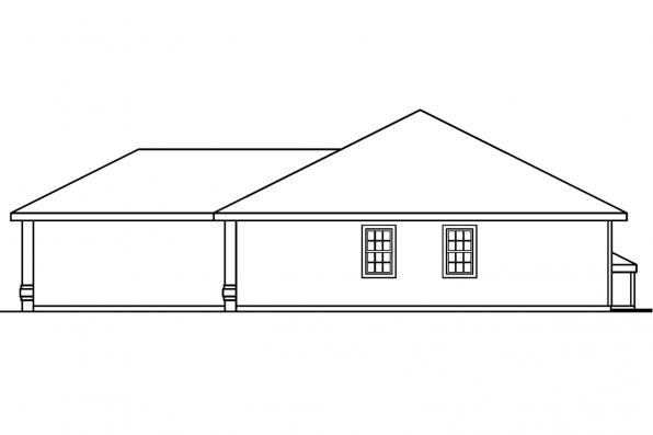 Ranch House Plan - Keizer 30-230 - Right Elevation