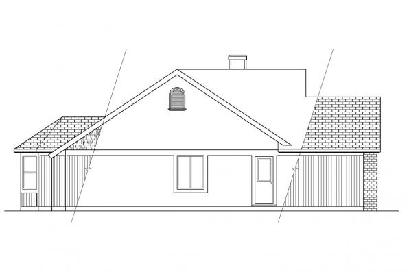 Ranch House Plan - Laramie 30-010 - Left Elevation