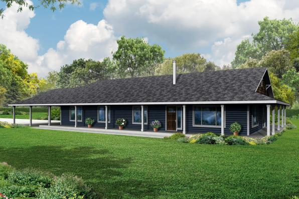 Ranch House Plan - Madrone 30-749 - Front Elevation