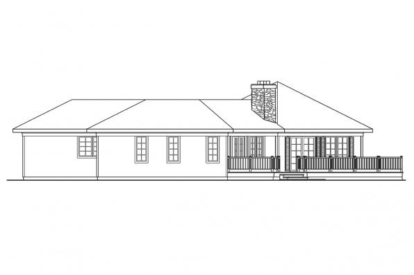 Ranch House Plan - McKinely 10-181 - Right Elevation