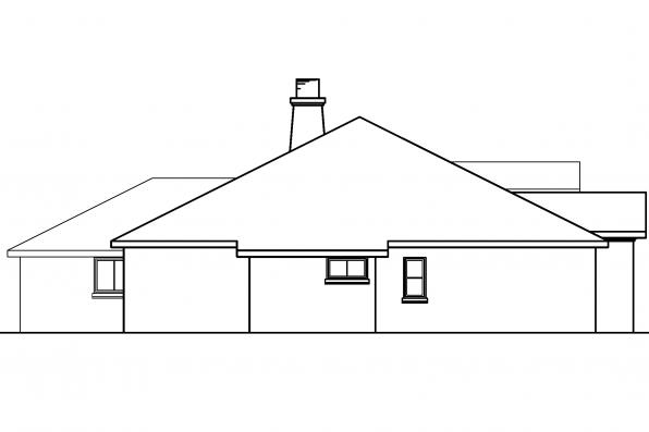Ranch House Plan - Mesilla 30-183 - Left Elevation