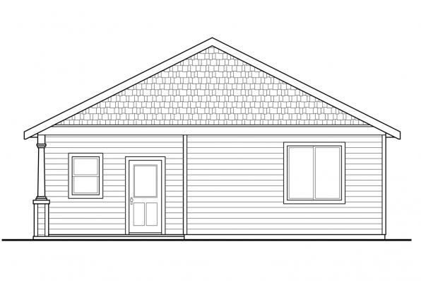 Ranch House Plan - Morrison 30-973 - Rear Elevation
