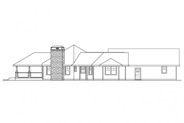 Ranch House Plan - Mountain View 10-558 - Left Elevation