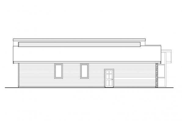 Prairie House Plan - Nisqually 31-191 - Left Elevation