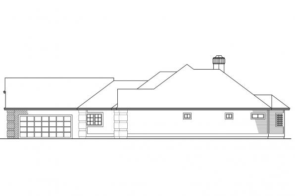Ranch House Plan - Norwich 30-175 - Right Elevation