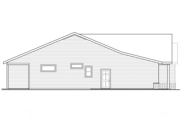 Ranch House Plan - Peyette 31-215 - Left Elevation