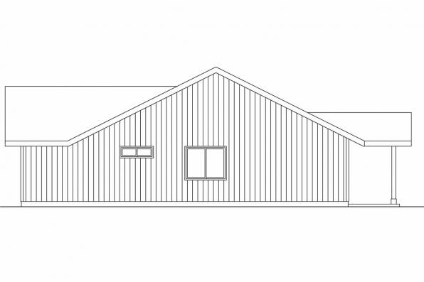 Ranch House Plan - Prichard 30-701 - Right Elevation