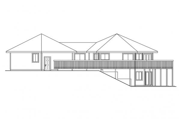 Ranch House Plan - Ravendale 10-523 - Right Elevation