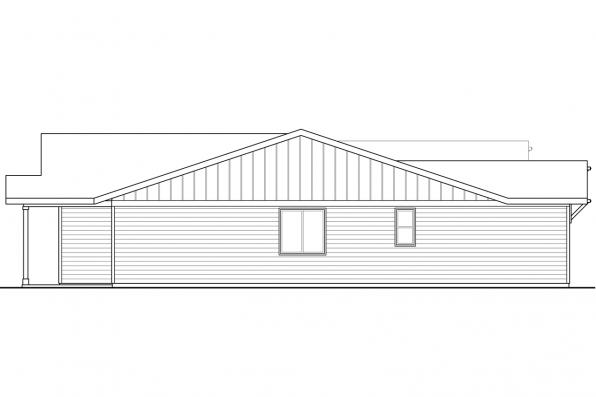 Ranch House Plan - Siuslaw 31-065 - Left Elevation