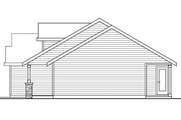Ranch House Plan - Stanford 30-640 - Right Elevation