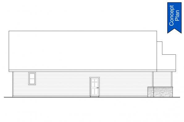 Ranch House Plan - Tacoma 31-140 - Left Elevation