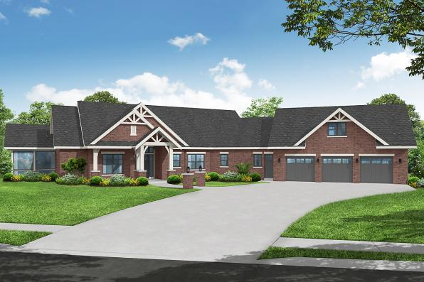 Ranch House Plan - Telluride 31-225 - Front Elevation