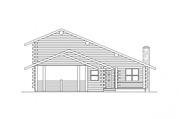 Ranch House Plan - Wickiup 30-116 - Left Elevation