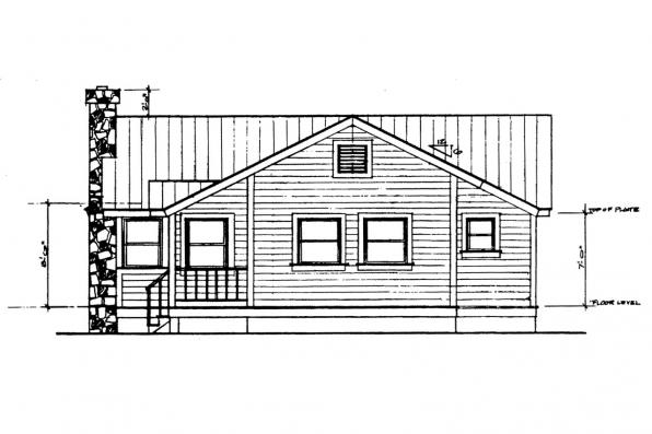 Ranch House Plan - Windham 41-003 - Right Elevation