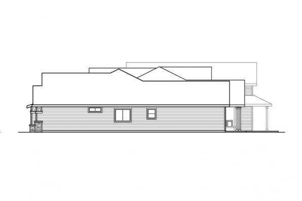 Home Plan with RV Garage - Hickory Creek 30-848 - Right Elevation