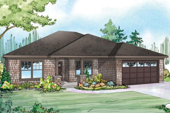 Shingle Style House Plan - Glenhaven 30-927 - Front Elevation