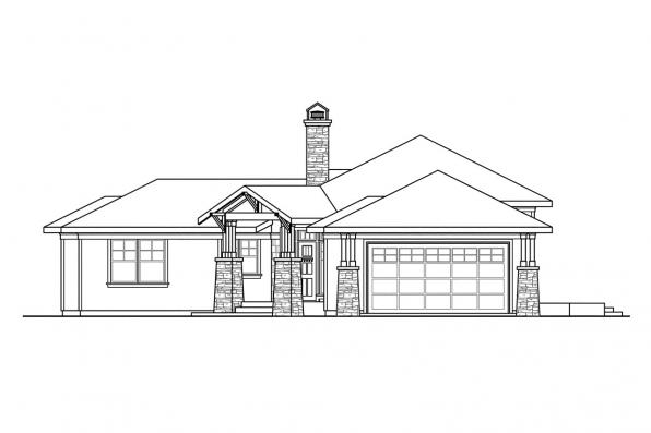 3 Bedroom House Plan - Heartview 50-015 - Right Elevation