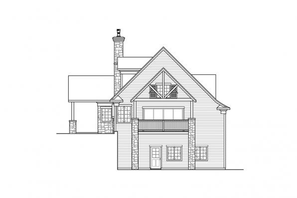 Sloped Lot House Plan - Stonegate 31-132 - Right Elevation