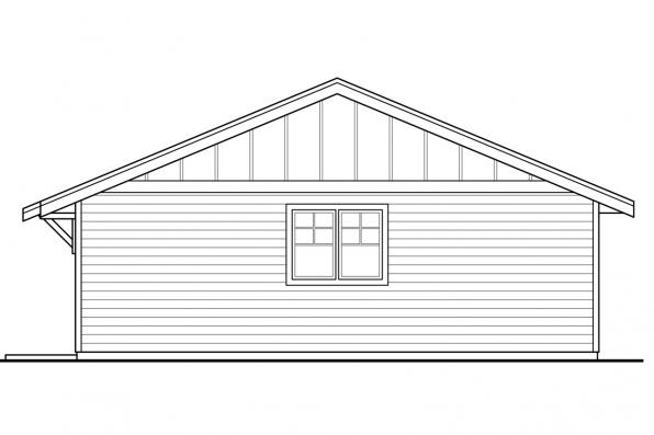 Small House Plan - Lakeville 30-998 - Garage Rear Elevation