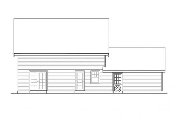 Small House Plan - Bailey 30-262 - Rear Elevation