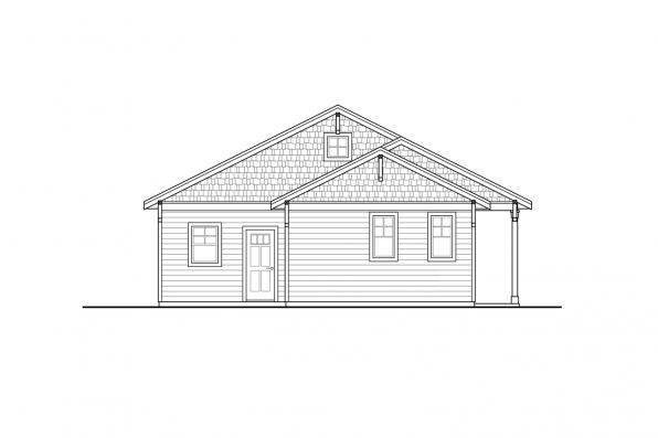 Small House Plan - Klickitat 31-129 - Front Elevation