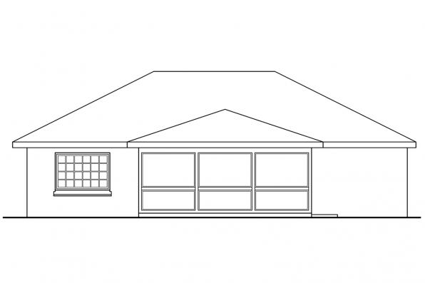 Small House Plan - Lamar 11-106 - Rear Elevation