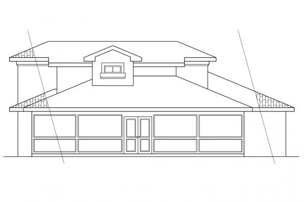 Small House Plan - Malibu 11-054 - Rear Elevation