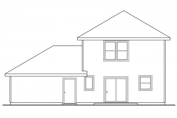 Small House Plan - Patterson 30-117 - Rear Elevation