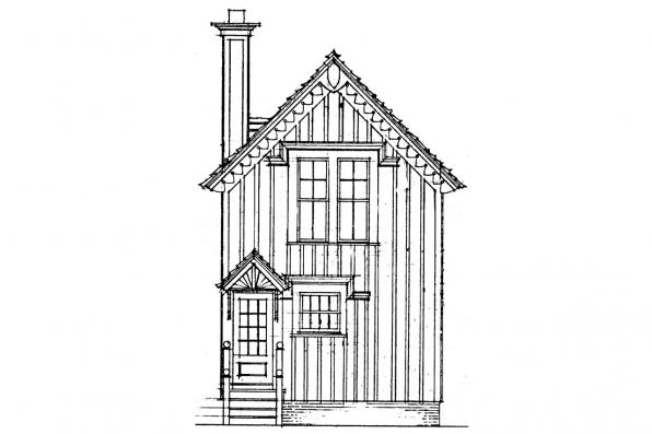 Small House Plan - Pearl 42-010 - Rear Elevation