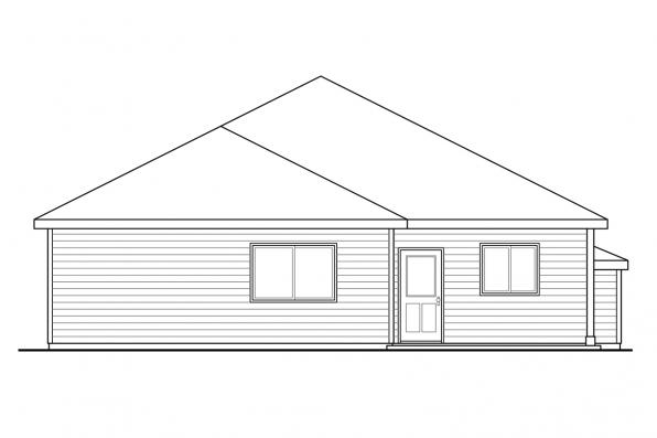 Small House Plan - Pine Creek 30-885 - Front Elevation