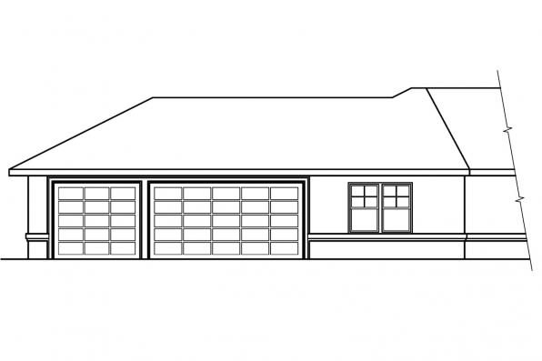 Southwest House Plan - Chatsworth 30-227 - Left Elevation