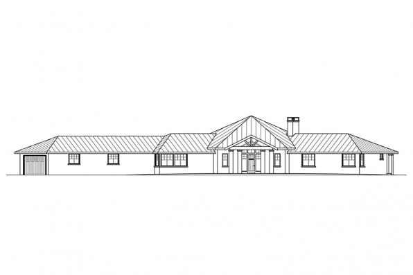 Southwest House Plan - Duvall 10-603 - Front Elevation