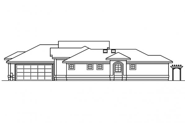 Southwest House Plan - Jacobson 30-397 - Right Elevation