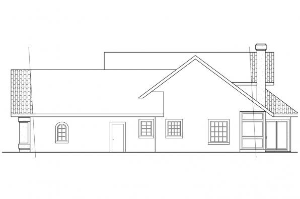 Southwest House Plan - Kendall 11-092 - Right Elevation