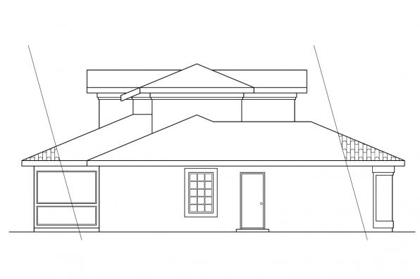 Southwest House Plan - Malibu 11-054 - Left Elevation