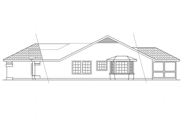 Southwest House Plan - Quincy 11-017 - Right Elevation