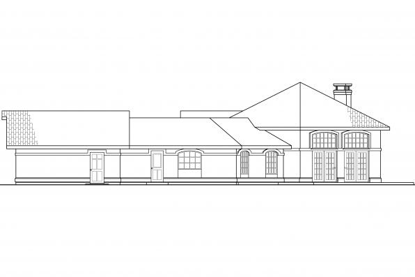 Southwest House Plan - Rosabella 11-137 - Right Elevation