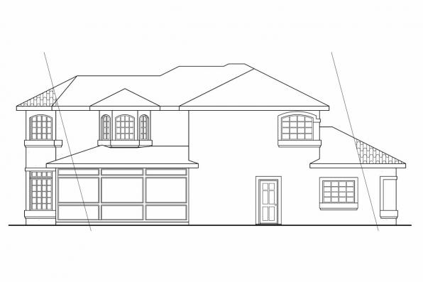 Elevation Plan In Spanish : Southwest house plans bellaire associated designs