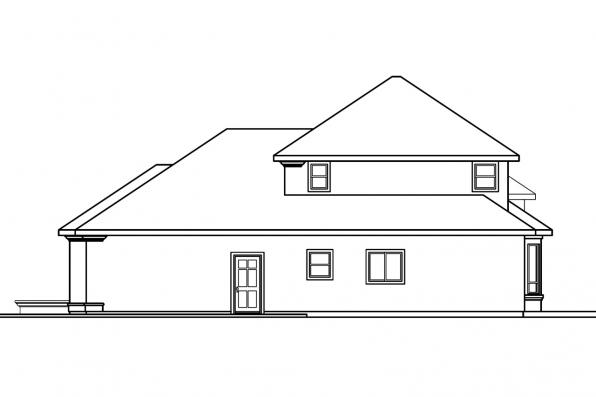 Spanish House Plan - Corsica 30-443 - Right Elevation